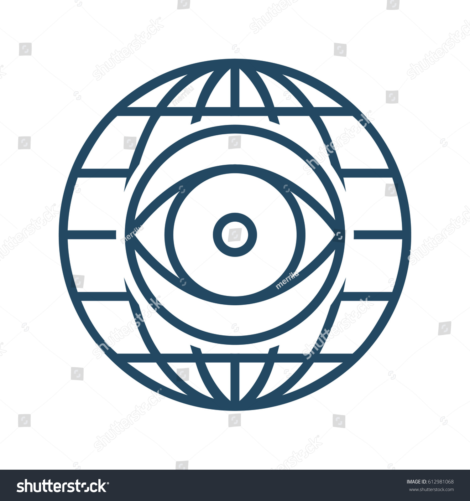 Eye inside globe vector icon meaning stock vector 612981068 eye inside globe vector icon meaning global outlook biocorpaavc Images