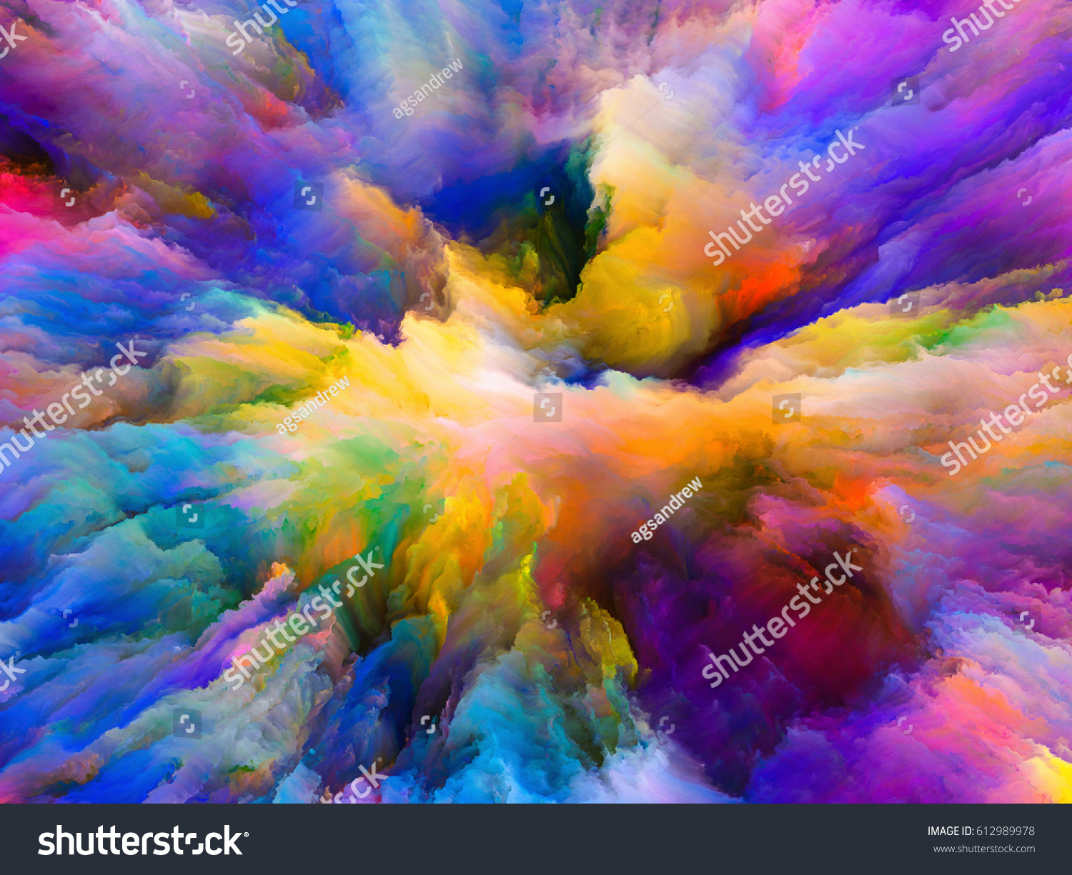 color explosion series interplay of fractal paint and rich texture