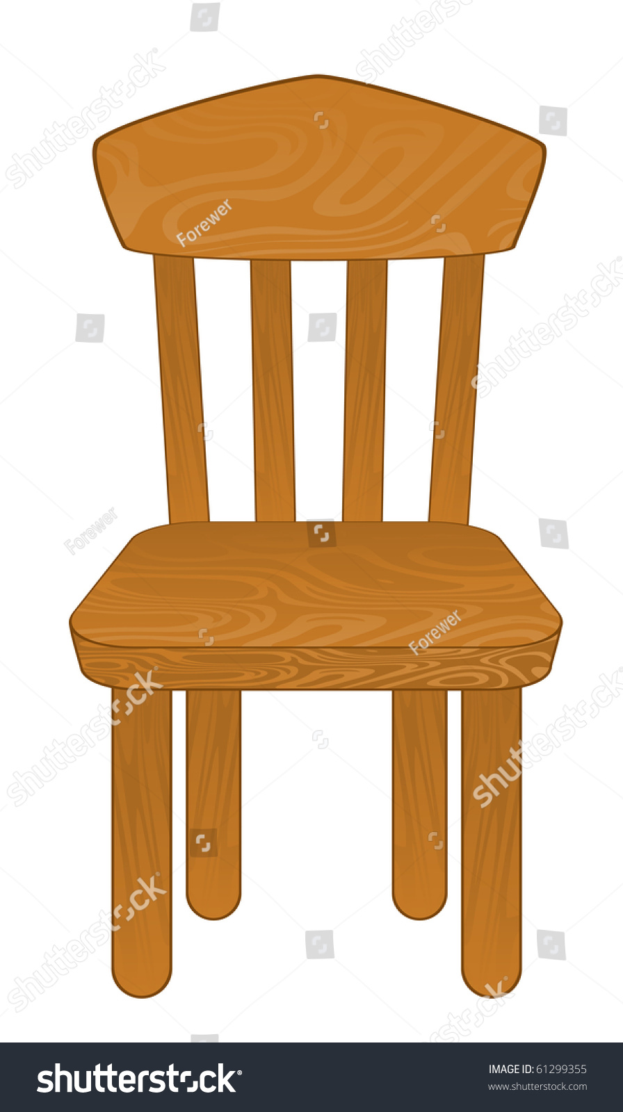 Chair Isolated Vector Illustration Stock Vector 61299355