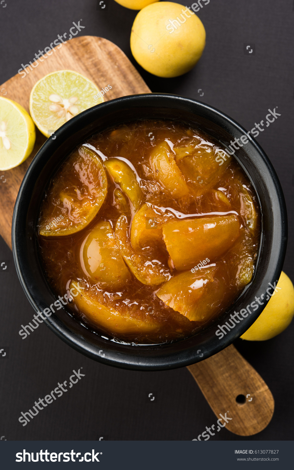 Indian Lemon Pickle Nimbu Ka Achar Stock Photo Edit Now 613077827