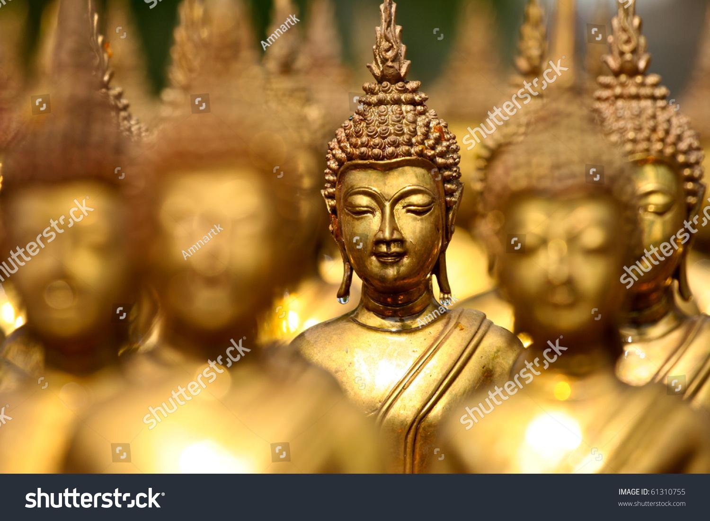 buddha statues face gold buddha thailand stock photo edit now