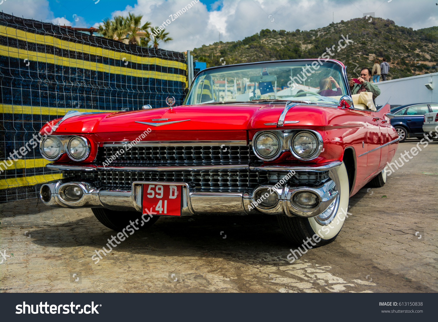 2016 Cadillac Convertible >> April 2016 Cadillac Convertible 1950 Parked Stock Photo