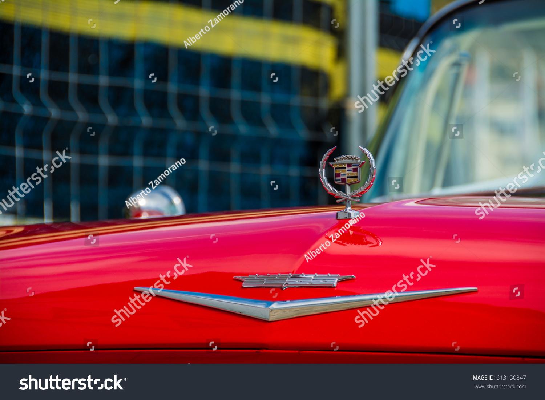 2016 Cadillac Convertible >> April 2016 Cadillac Convertible 1950 Parked Stock Photo