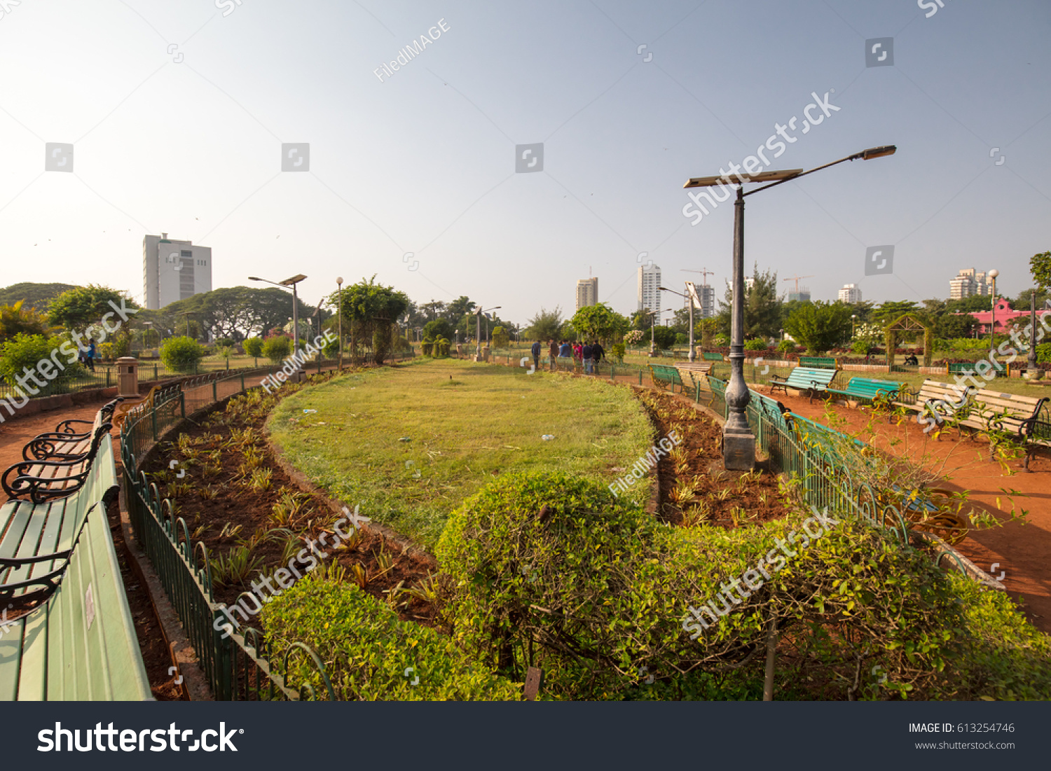 Famous Hanging Gardens Mumbai On Clear Stock Photo (Edit Now ...