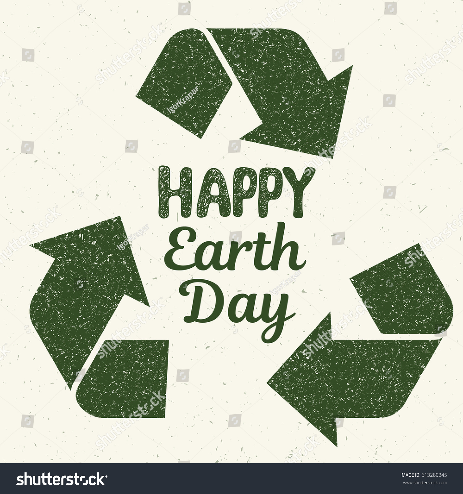 Happy earth day concept recycling symbol stock vector 613280345 happy earth day concept with recycling symbol posterunge graphic style illustration buycottarizona