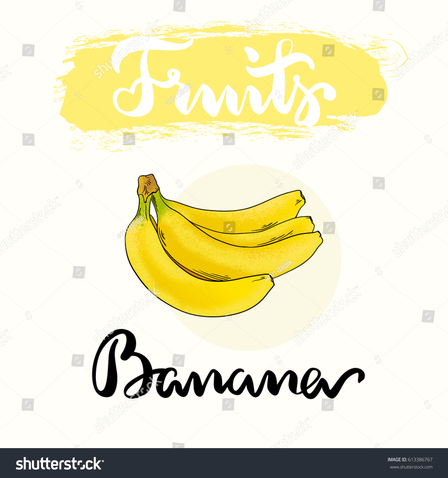 banana fruit label design product collection stock vector (royalty