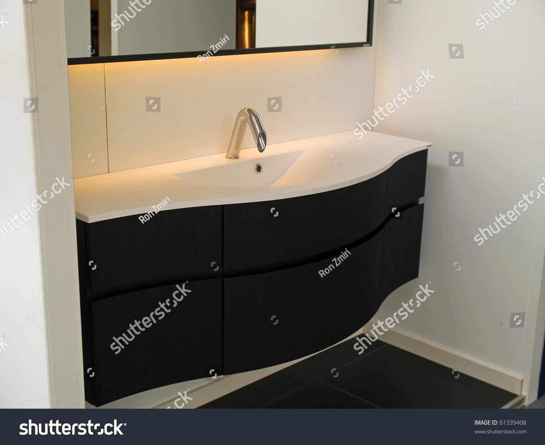 Details modern trendy contemporary designer bathroom stock for Detail in contemporary bathroom design