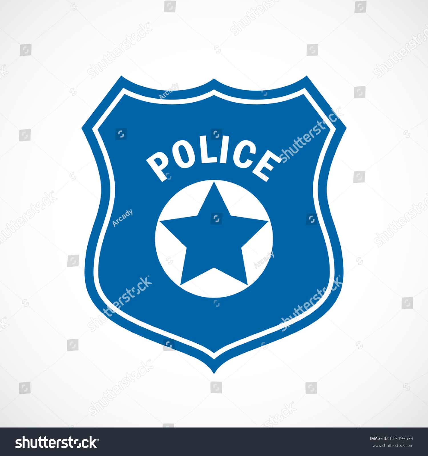 police officer badge icon vector on stock vector 613493573