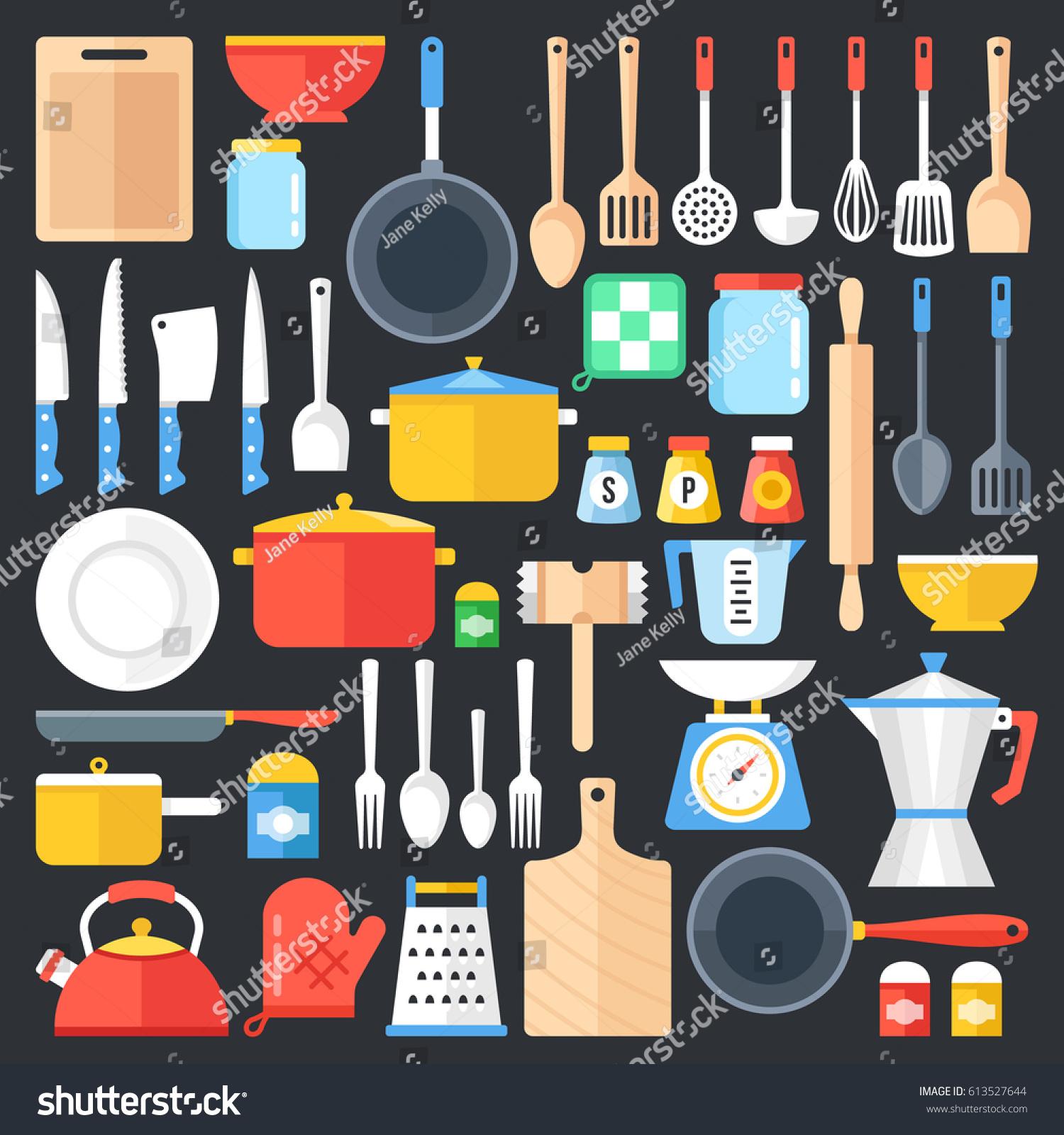 Kitchen Utensils Set Kitchenware Cookware Kitchen Stock