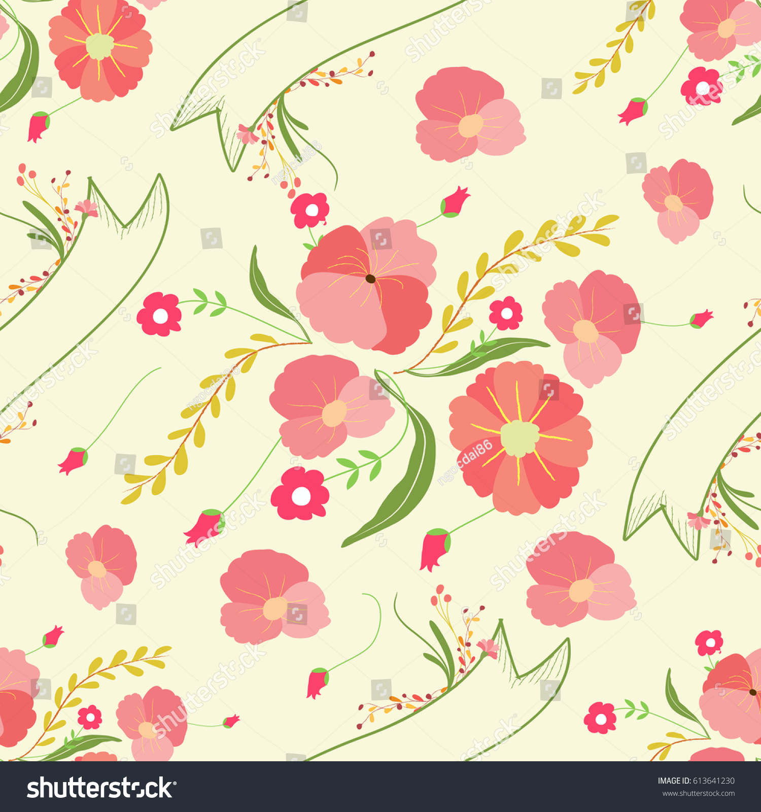 Spring Flowers Backgrounds Seamless Floral Pattern Ez Canvas