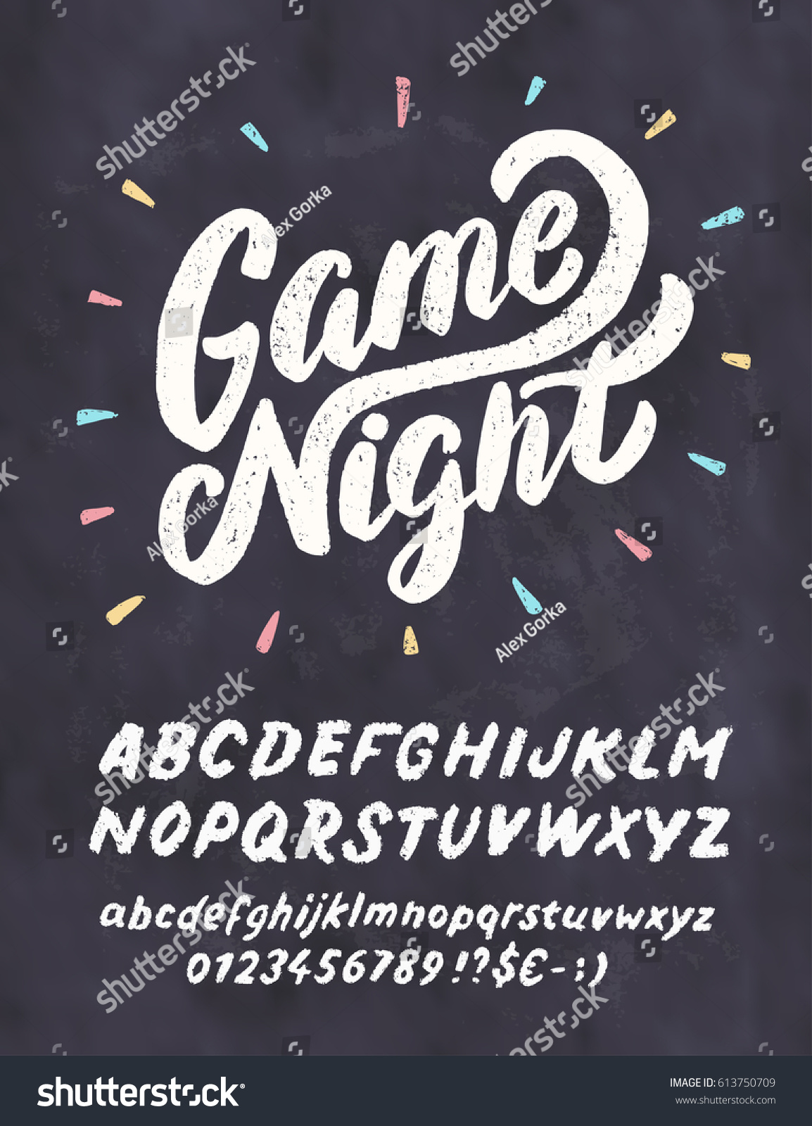 Game Night Chalkboard Sign Stock Vector 613750709 - Shutterstock