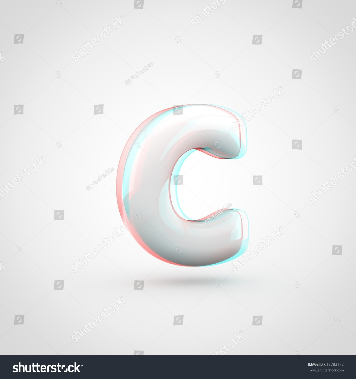 neon sign with the letter c isolated on blue background ez canvas