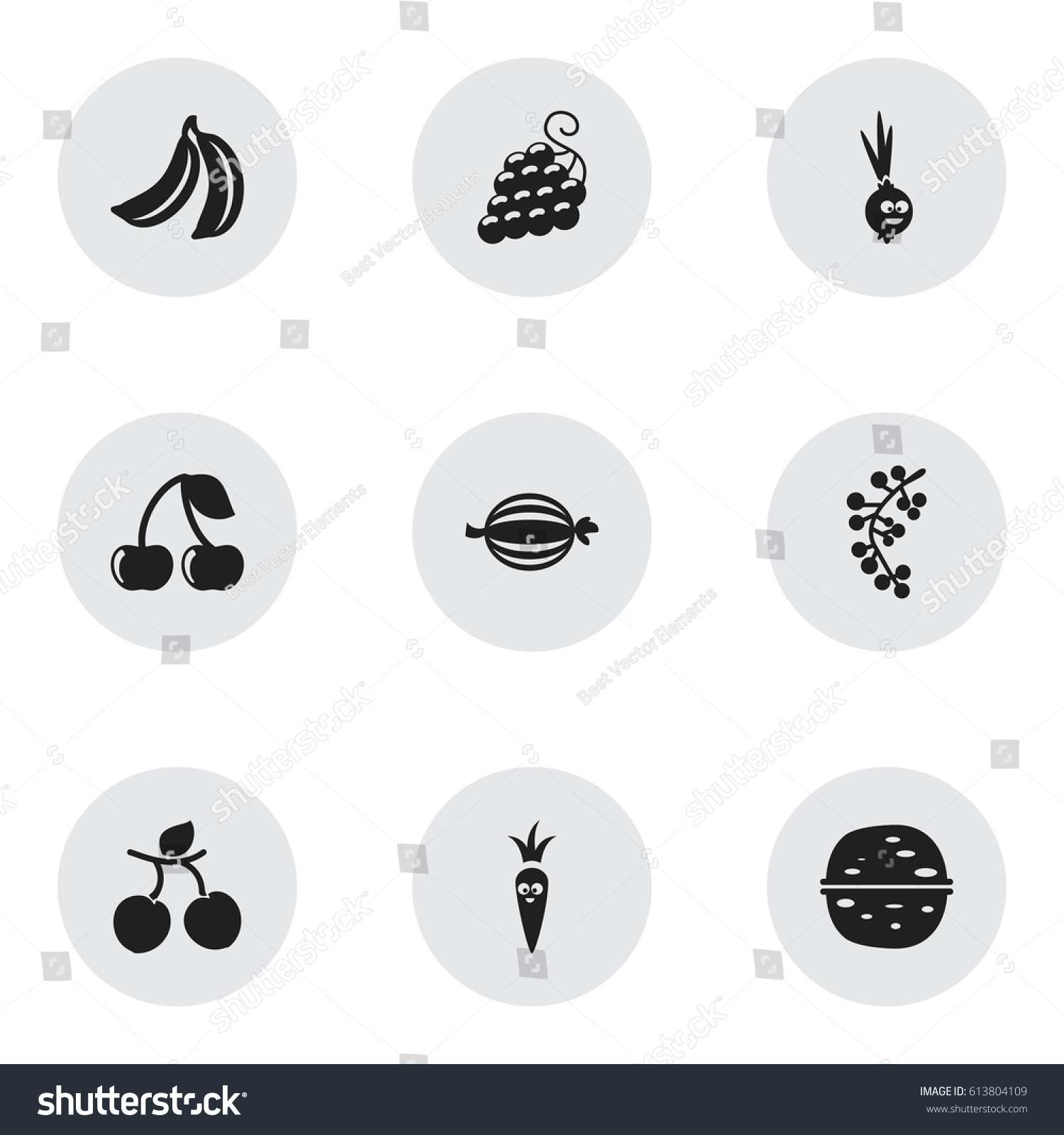 Set 9 Editable Kitchenware Icons Includes Stock Vector Royalty Free