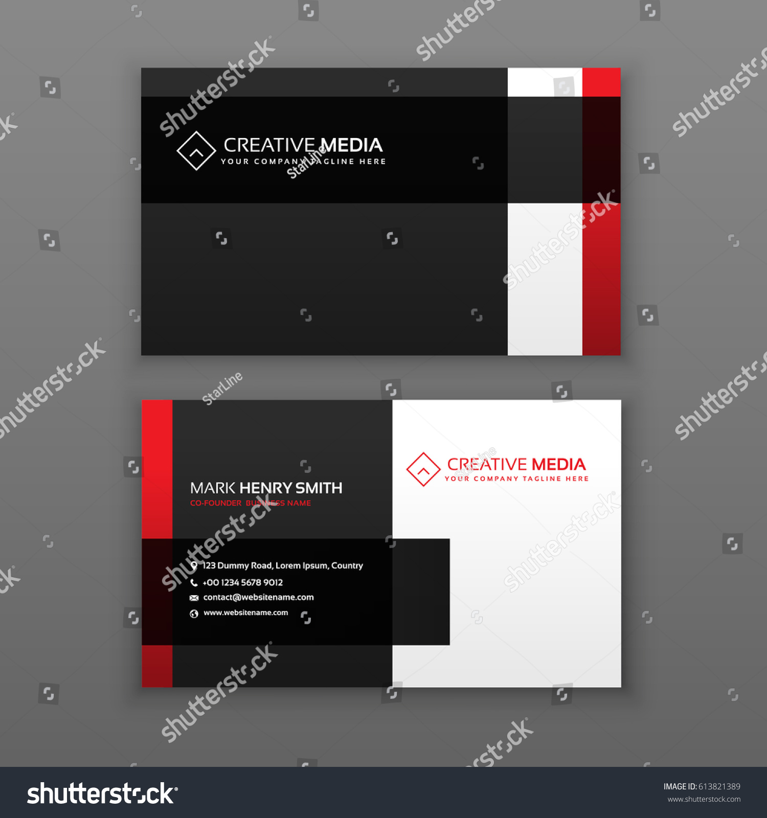 Red black professional business card design stock vector 613821389 red and black professional business card design magicingreecefo Choice Image