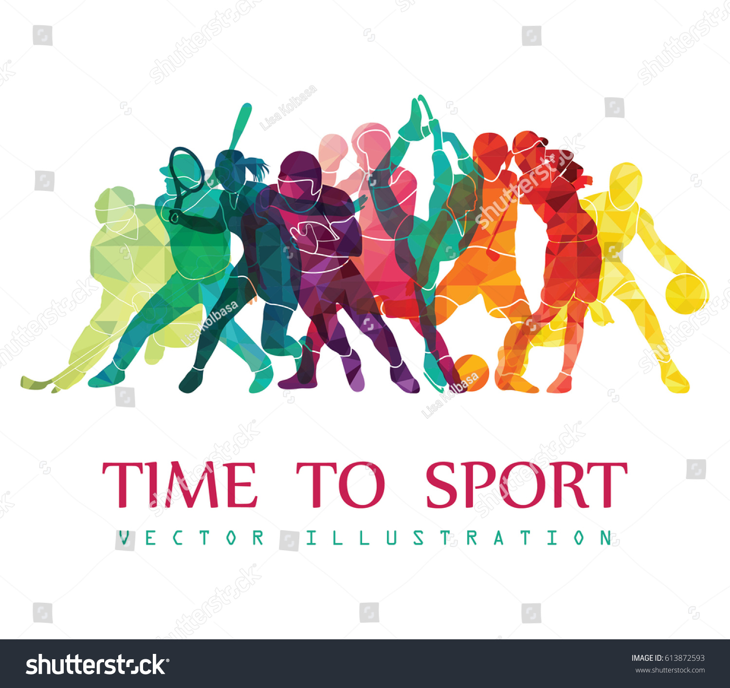 Color Sport Background Football Basketball Hockey Stock