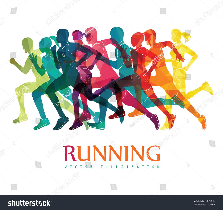 running marathon people run colorful poster stock vector 613872680 shutterstock cross country clip art shoe cross country clip art blue