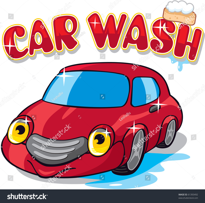 Car Car Wash Sign Stock Vector 61393492