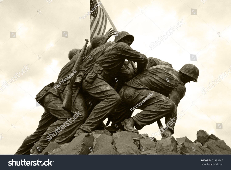 United States Marine Corps War Memorial Stockfoto (Lizenzfrei ...