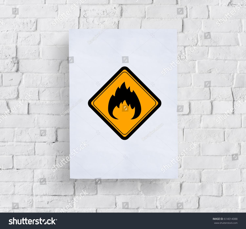 Flammable sign caution warning sign symbol stock photo 614014088 flammable sign caution warning sign symbol buycottarizona