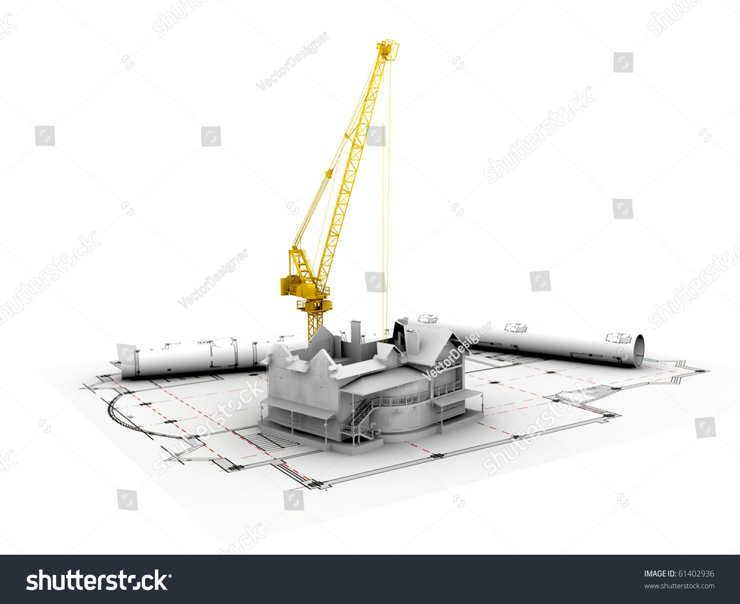 3d plan drawing stock photo 61402936 shutterstock for 3d plan drawing