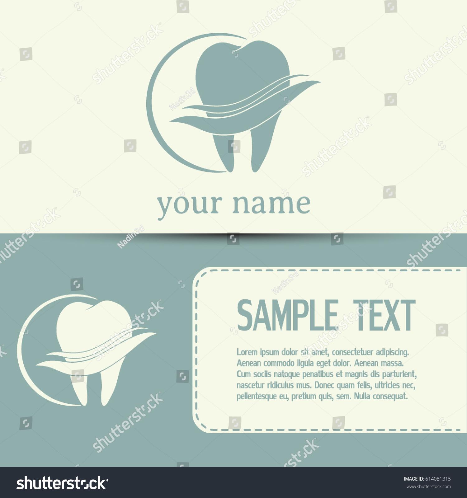 Business Cards Design Dental Clinic Vector Stock Vector