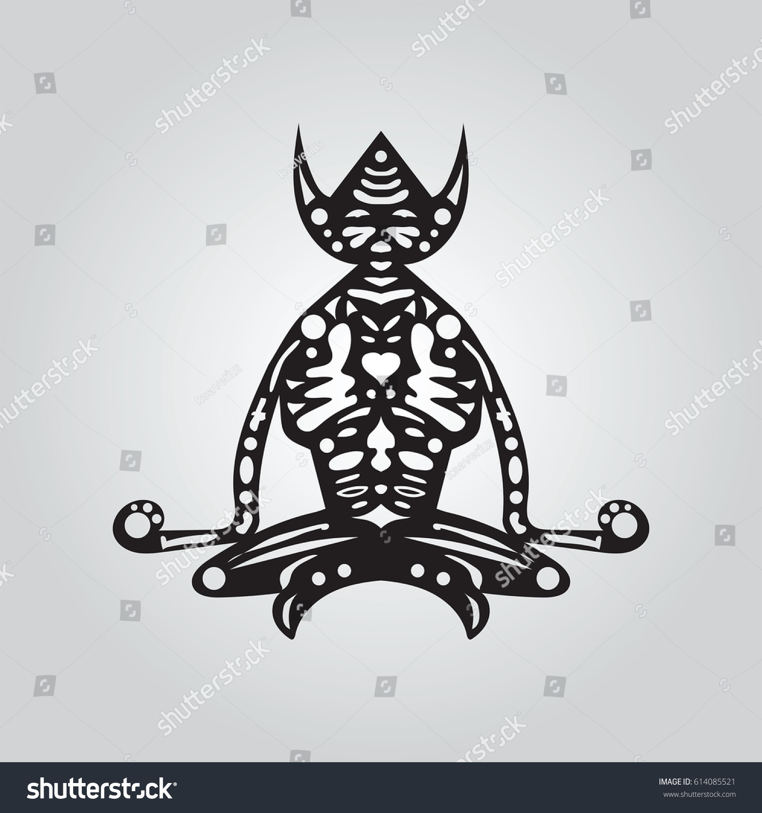 Lars krutak tatu lu tattoos from the dreamtime lars krutak - Vector Indigene Character Ancient Aboriginal Stock Vector
