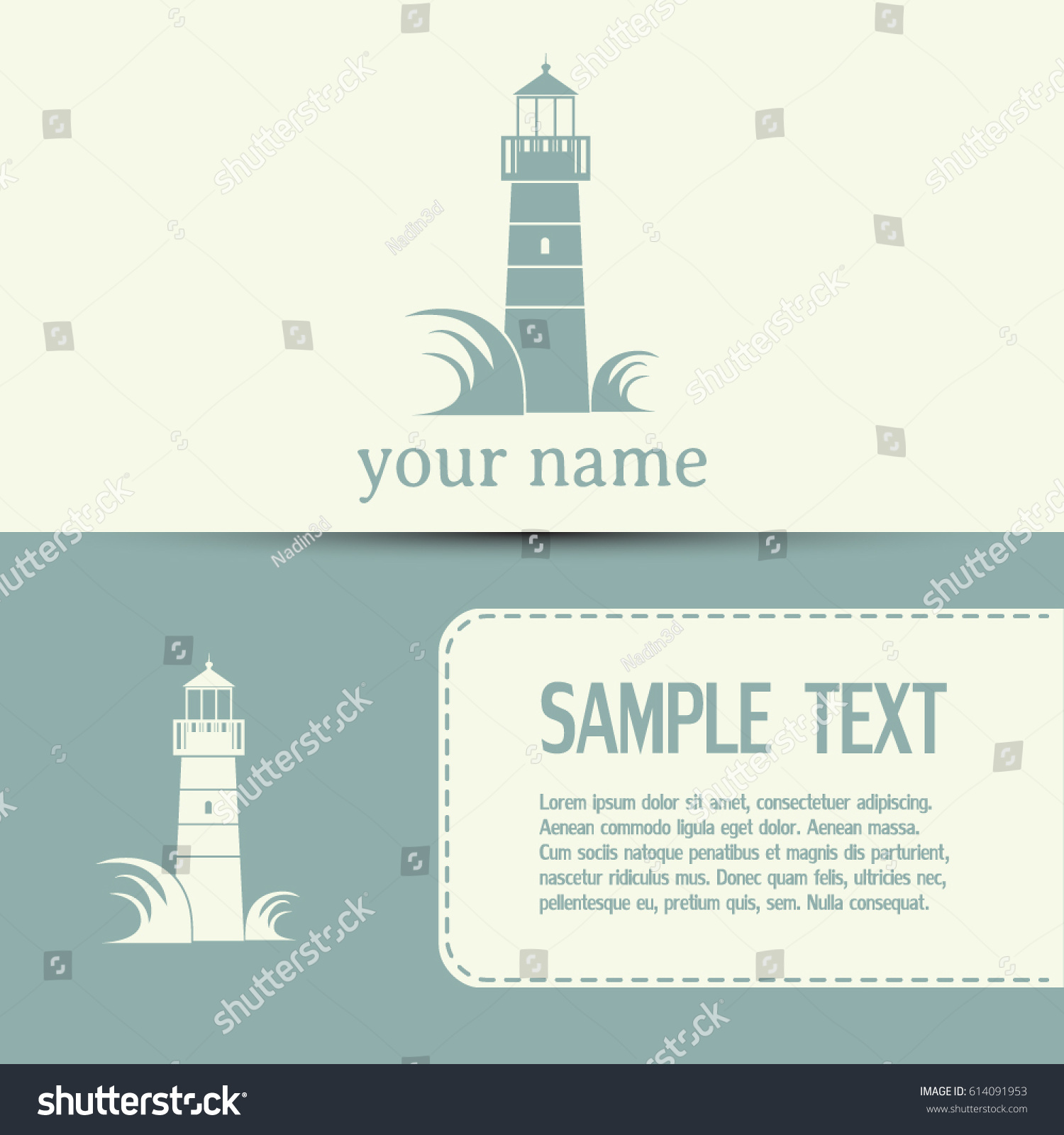 Business Cards Designvector Icon Lighthouse Stock Vector 614091953 ...