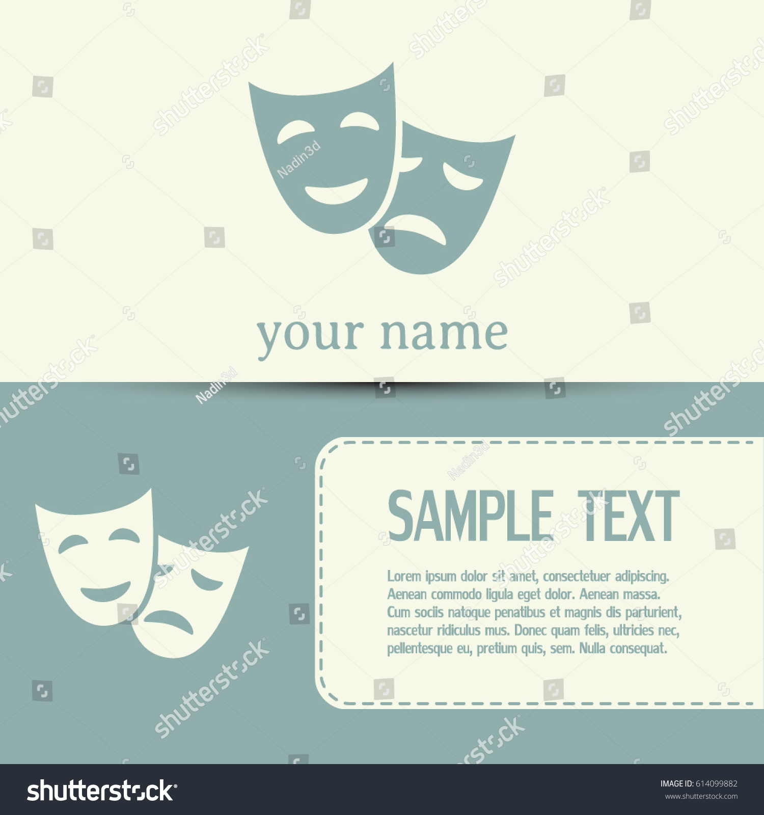 Business Cards Design Facial Mask Symbol Stock Vector 614099882 ...