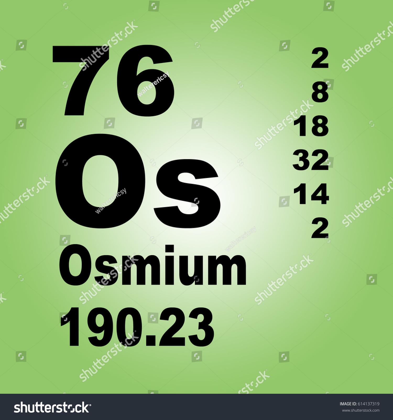 Osmium periodic table elements stock illustration 614137319 osmium periodic table of elements urtaz Images