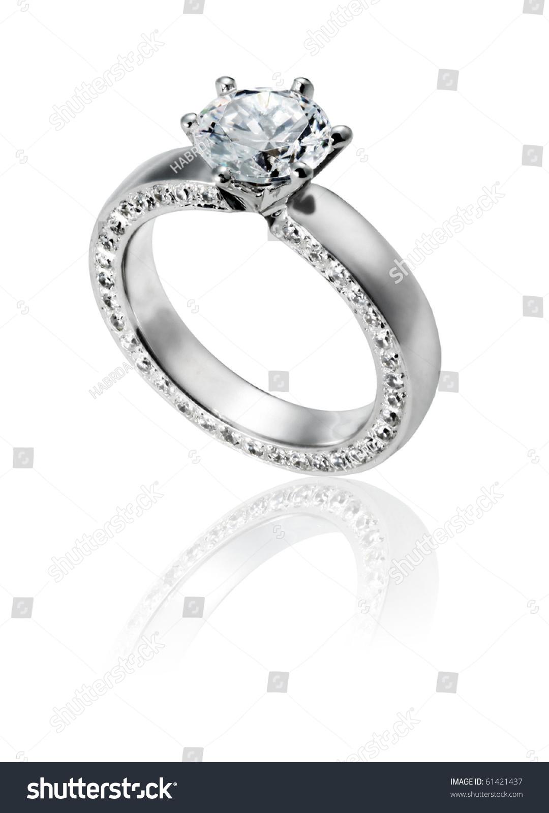 Diamond Ring Wedding Gift Isolated Stock Photo (Royalty Free ...