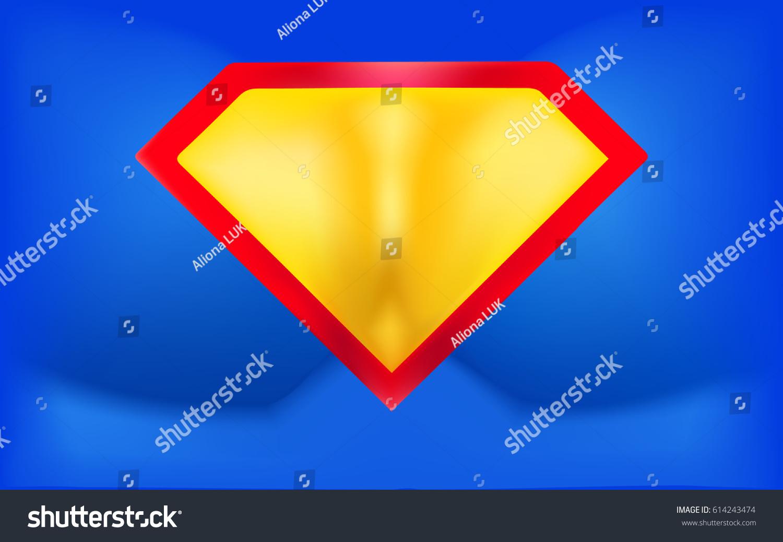Superhero Background Super Hero Logo Template Stock Vector Royalty