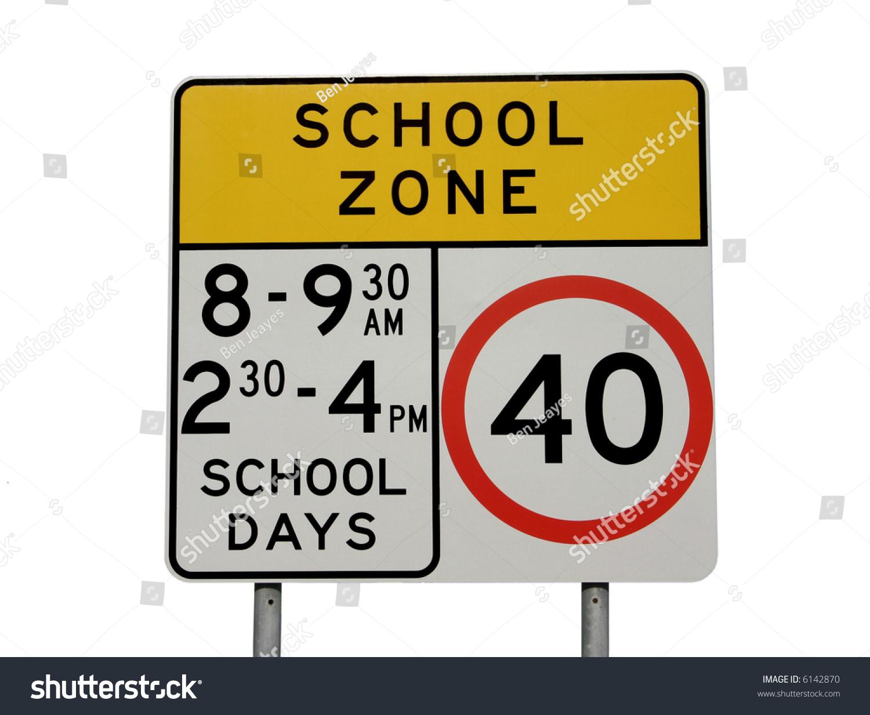 Citaten School Zone : School zone sign isolated on white stock photo