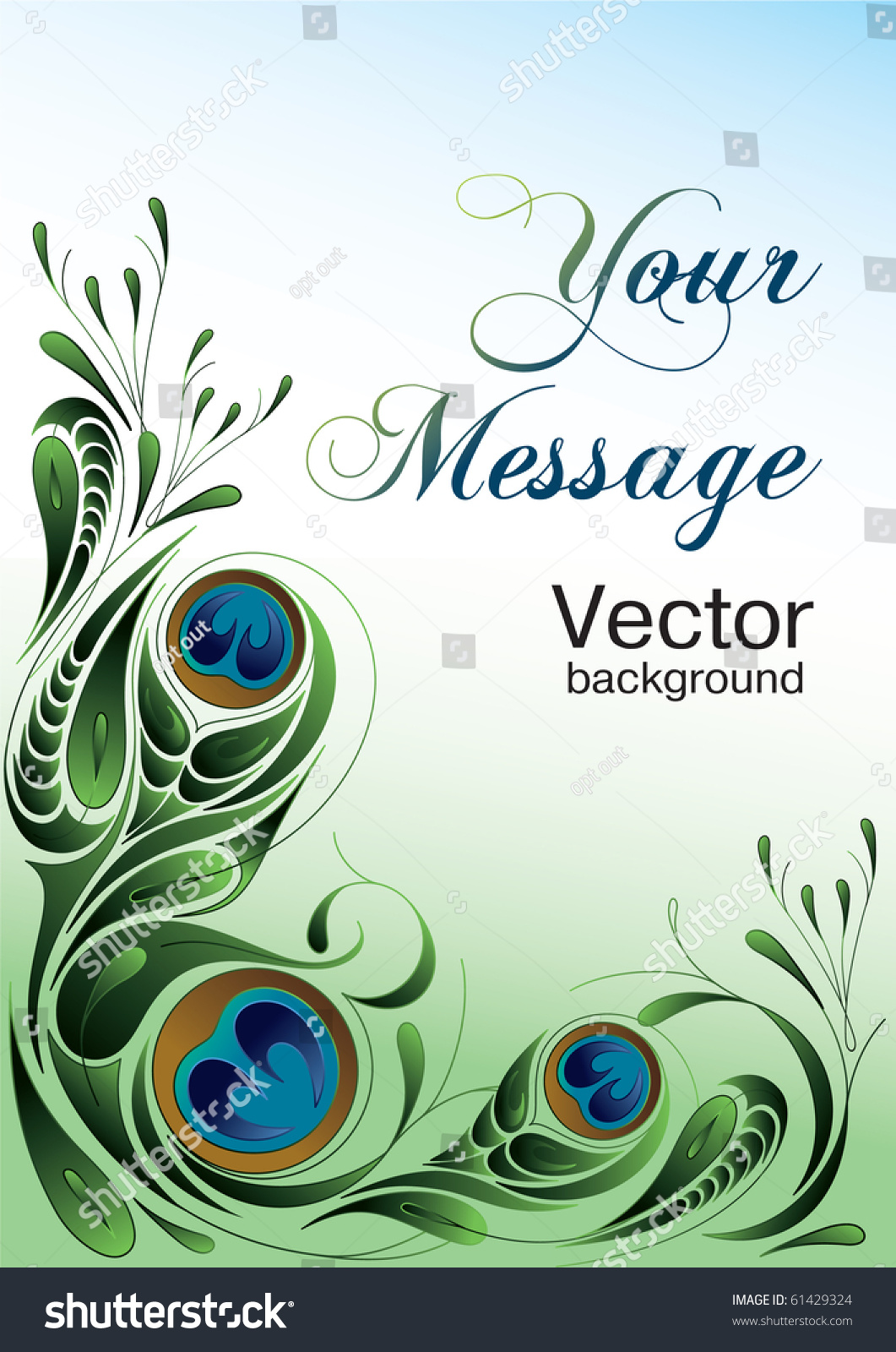 Holiday glamour greeting card vector peacock stock vector 61429324 holiday glamour greeting card with vector peacock style background and free space for your text kristyandbryce Images