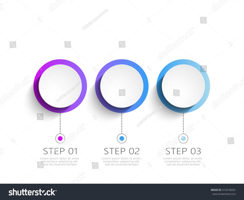 Modern 3 D Infographic Template 3 Steps Image Vectorielle De Stock