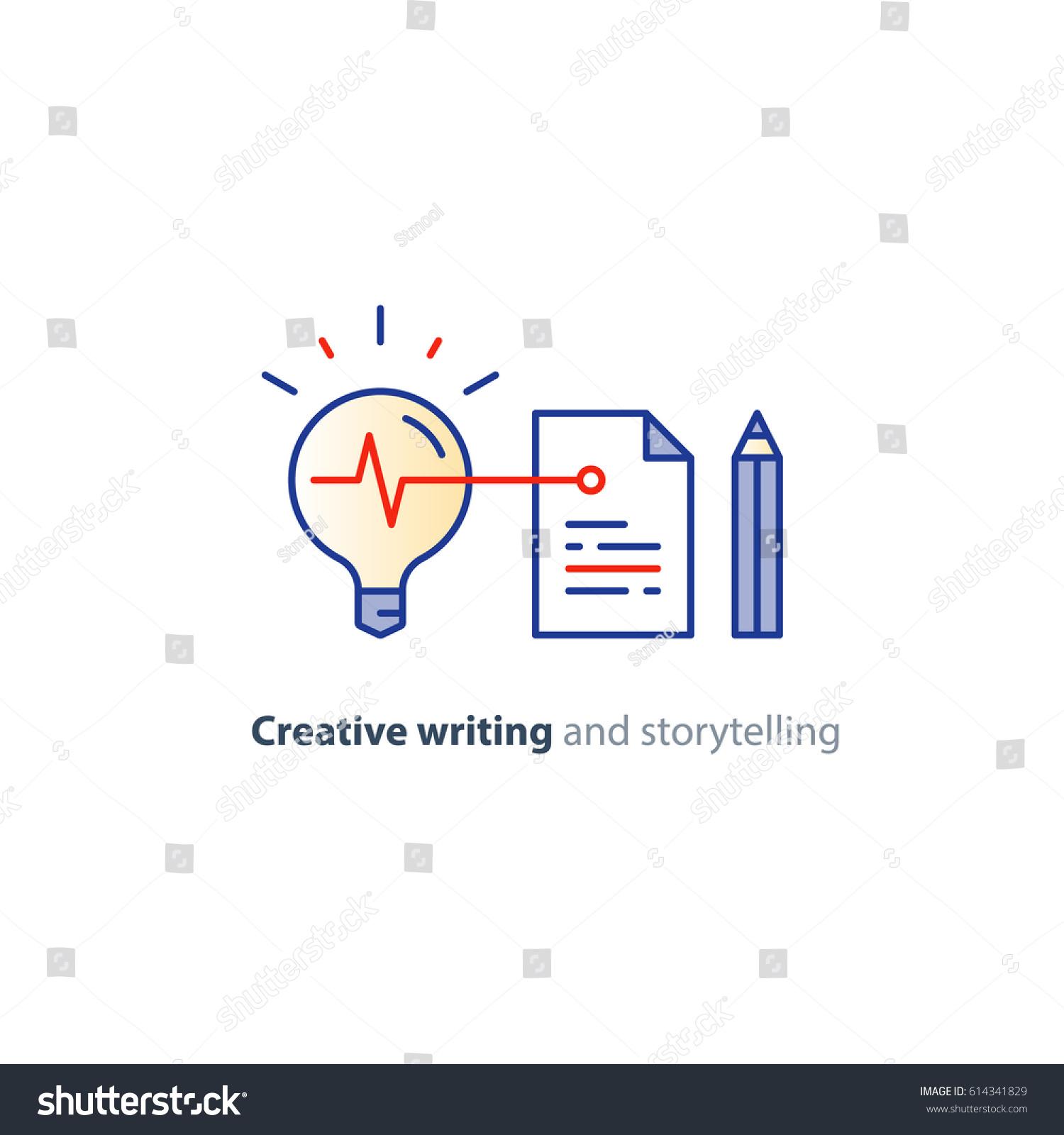 Creative Writing Thinking Concept Storytelling Idea Vector de ...