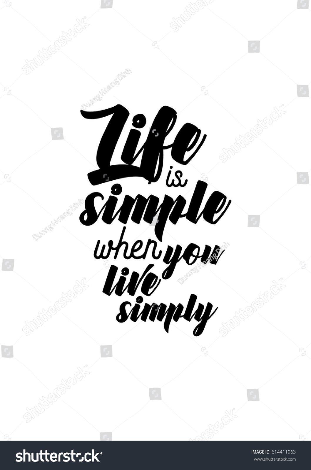 Simple Quotes About Life Travel Life Style Inspiration Quotes Lettering Stock Vector