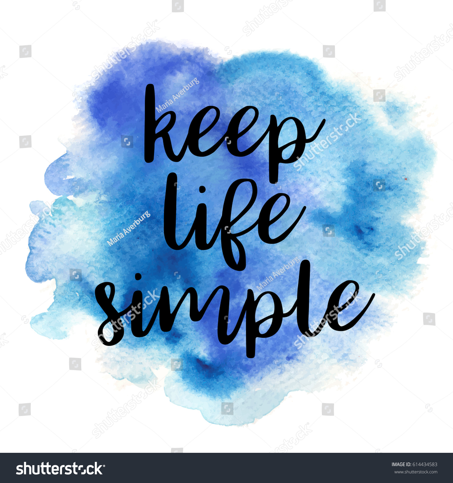 Positive Quote Positive Quote Keep Life Simple On Stock Vector 614434583
