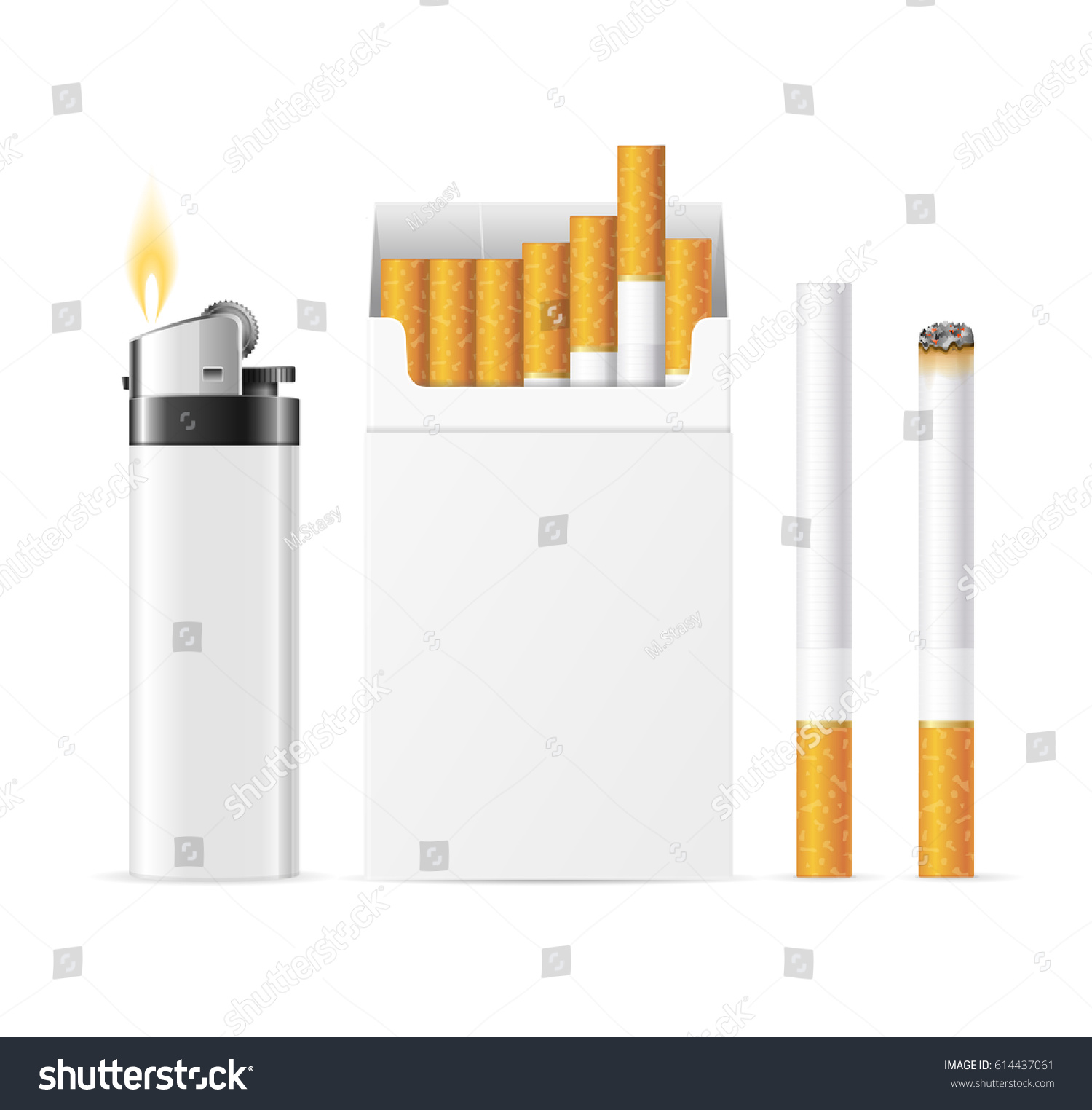 realistic template blank white cigarette pack stock vector royalty