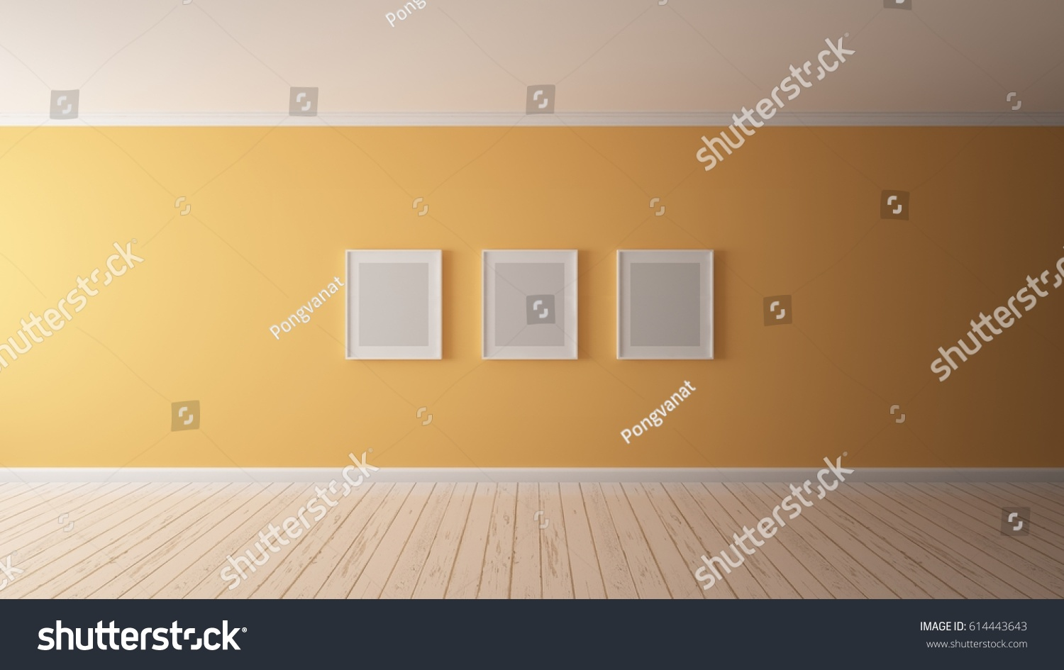 3 D Rendering Wall Color Pastel Orange Stock Illustration 614443643 ...