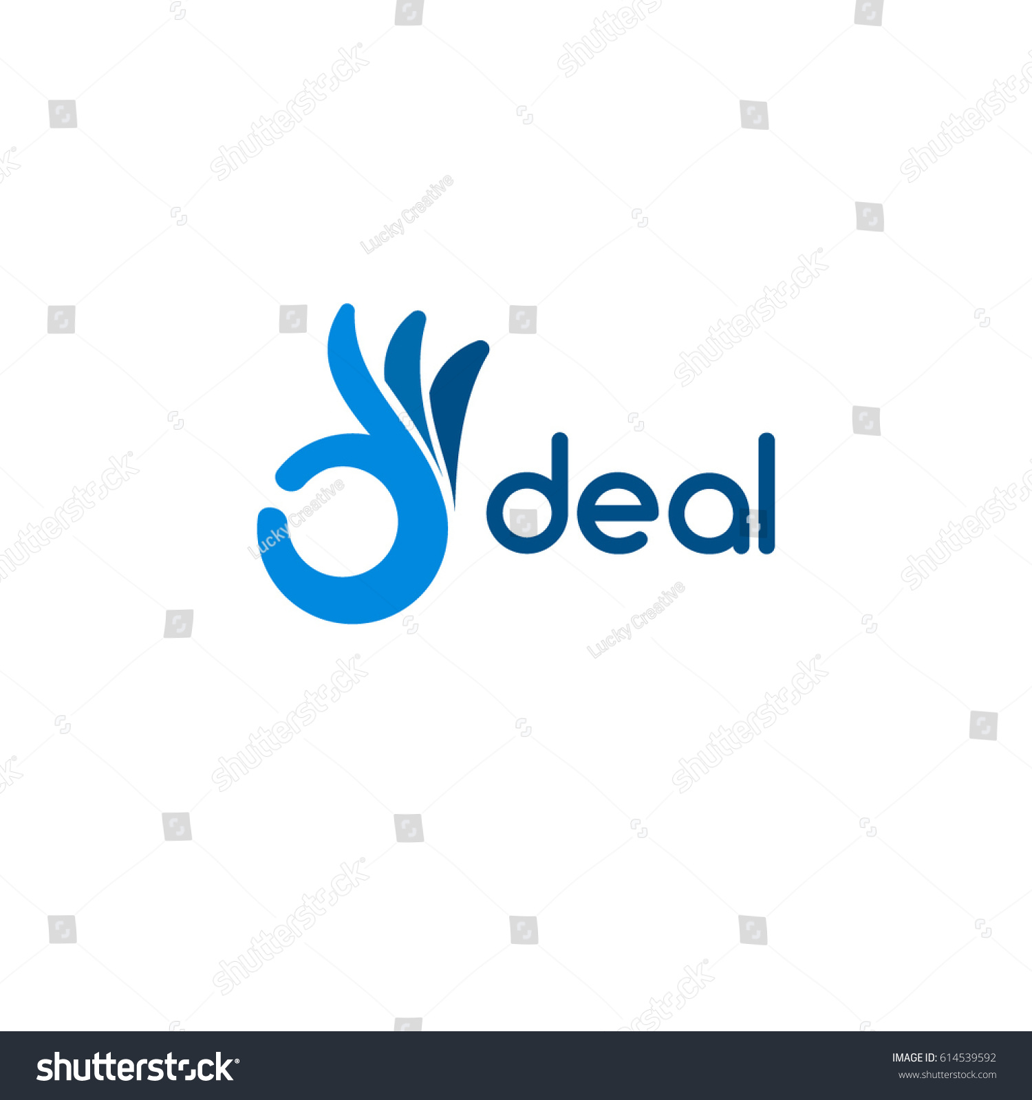 Hand Ok Logo Symbol Iconic Deal Stock Vector Royalty Free