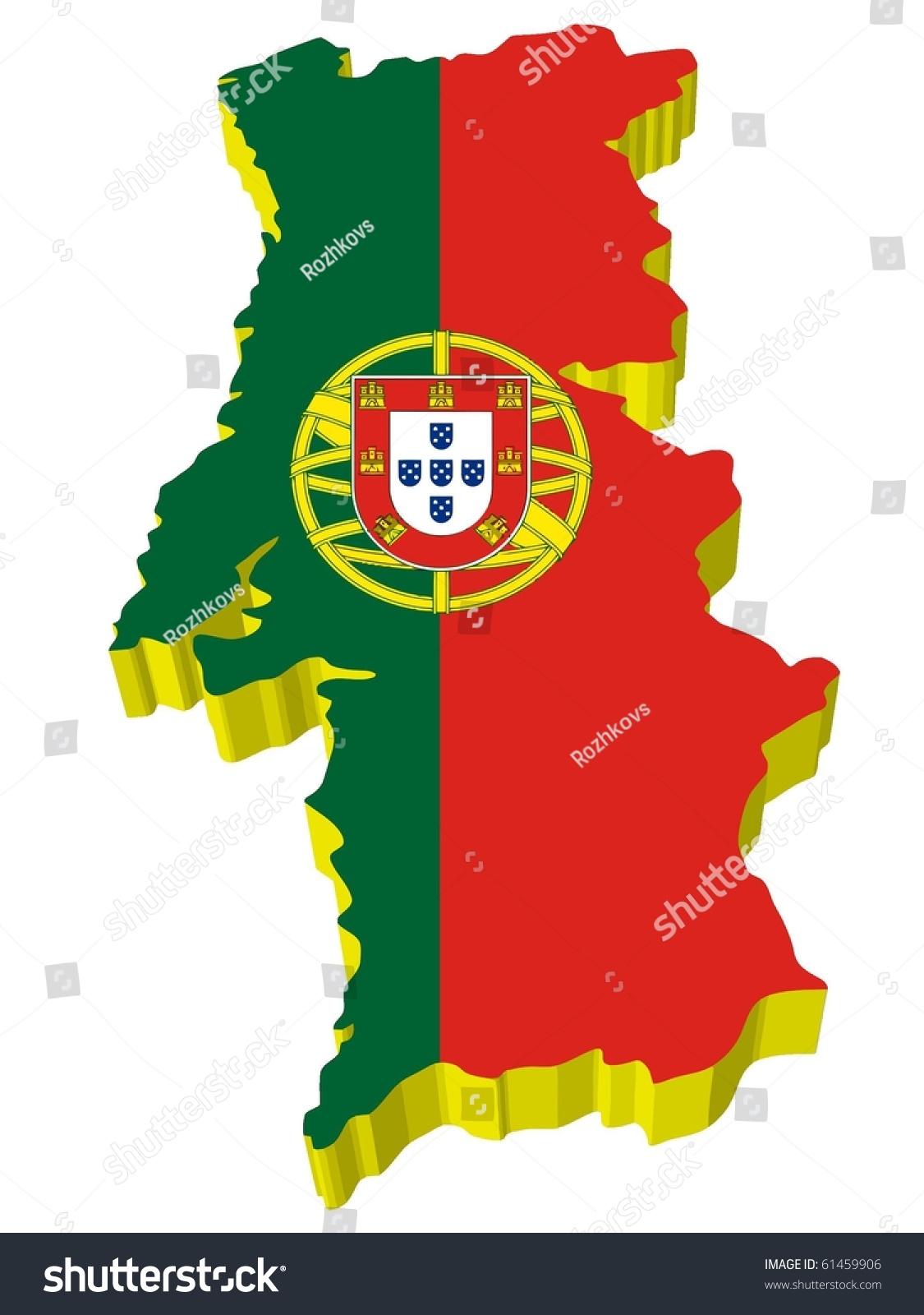 Vectors 3d Map Portugal Illustrations Clip Art Signs Symbols