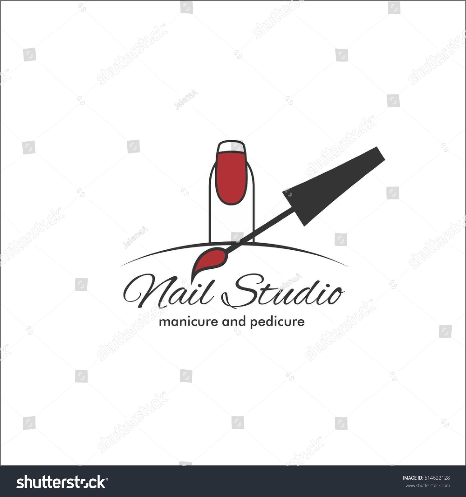 Nail Art Studio Template Logo Stock Vector (2018) 614622128 ...