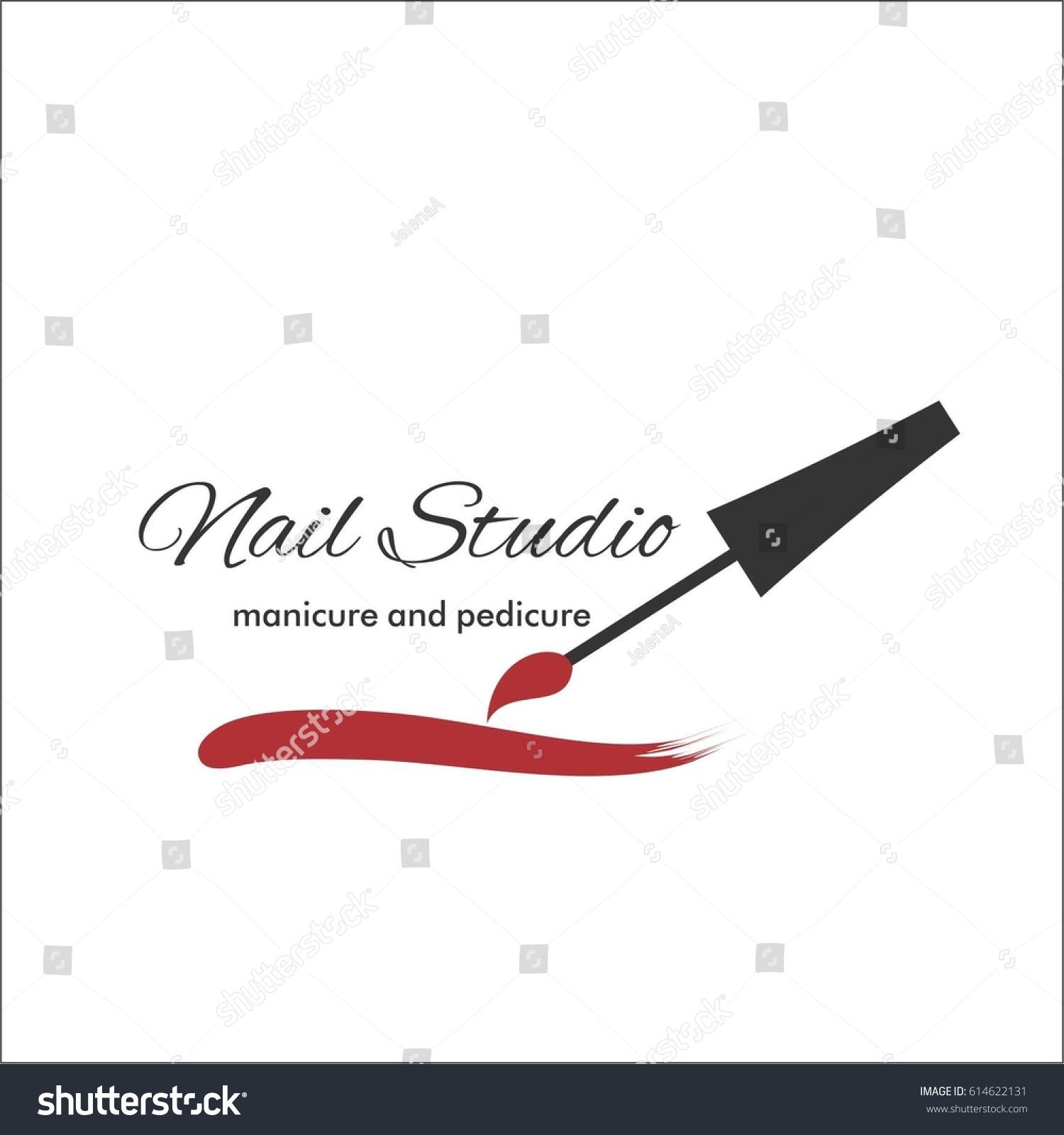 Nail Art Studio Template Logo Stock Vector HD (Royalty Free ...