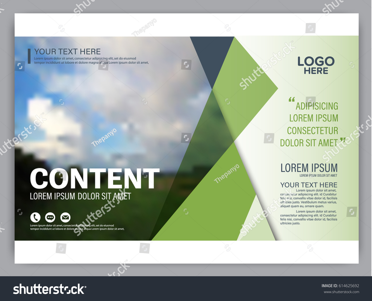 Presentation layout design template annual report stock vector presentation layout design template annual report cover page greenery modern background illustration vector maxwellsz