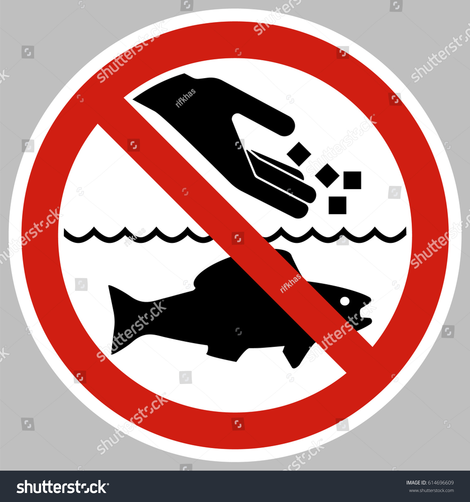 Do not feed fish it not recommended stock vector 614696609 for How to feed fish