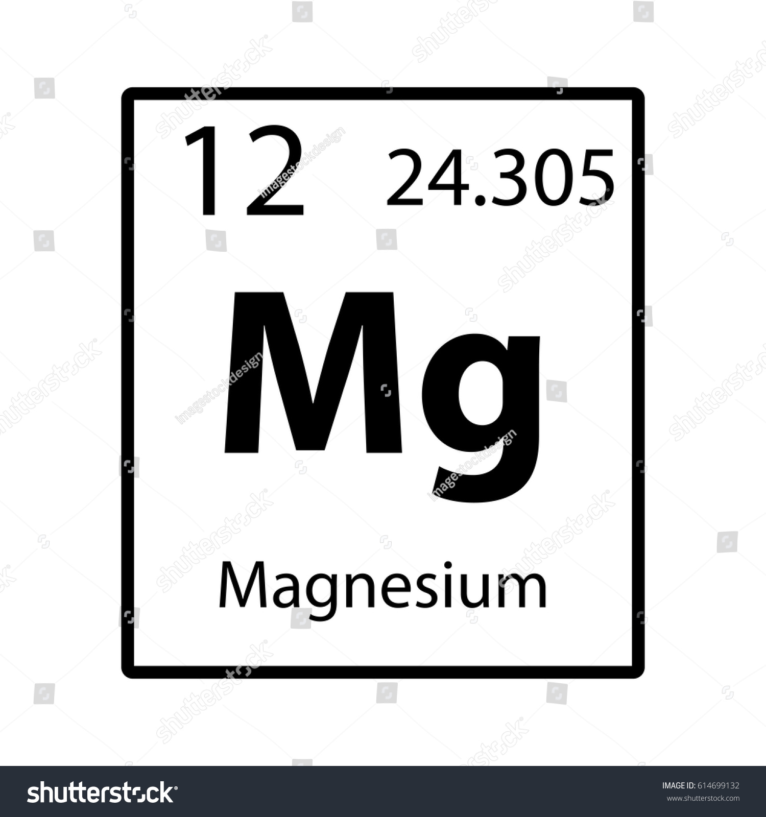 Magnesium periodic table element icon on stock vector 614699132 magnesium periodic table element icon on white background vector gamestrikefo Gallery