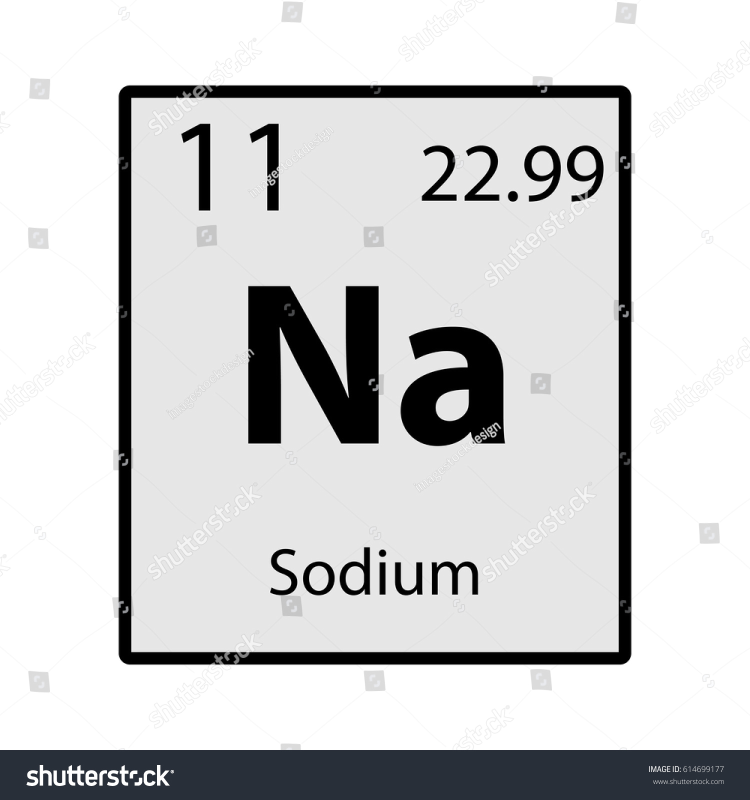 Sodium Periodic Table Element Gray Icon Stock Vector ...