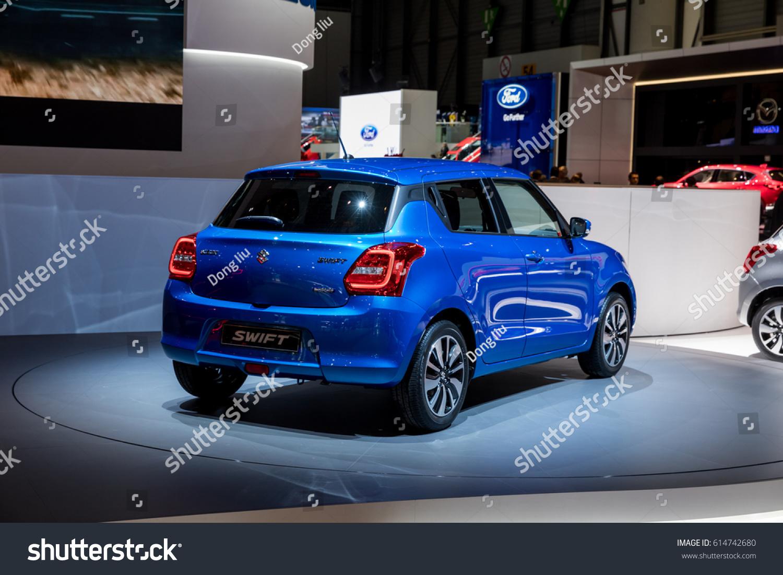 Geneva 2017 Suzuki Swift Car On Stock Photo (Edit Now) 614742680