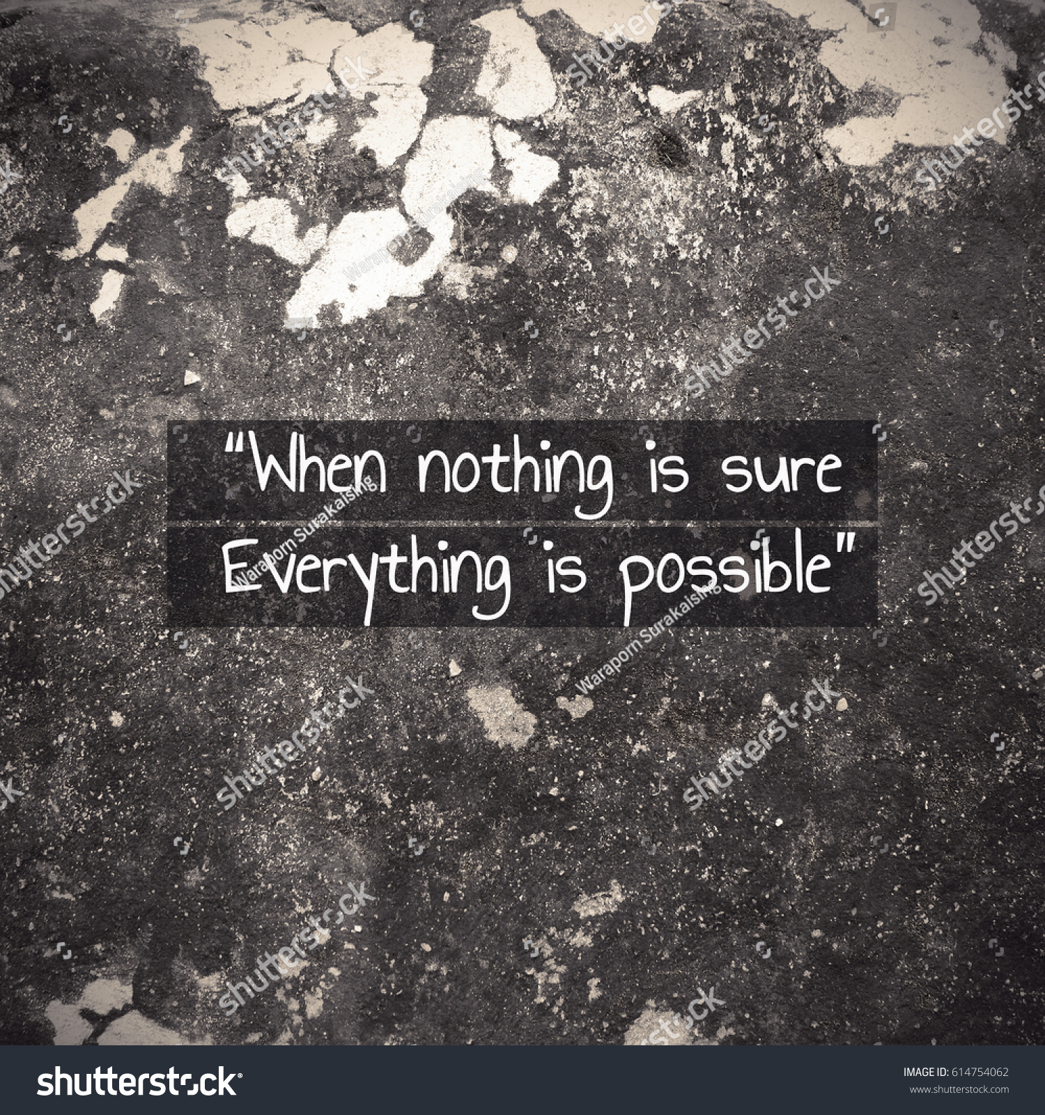 Inspirational Quote, When Nothing Is Sure Everything Is Possible Quote On  Background