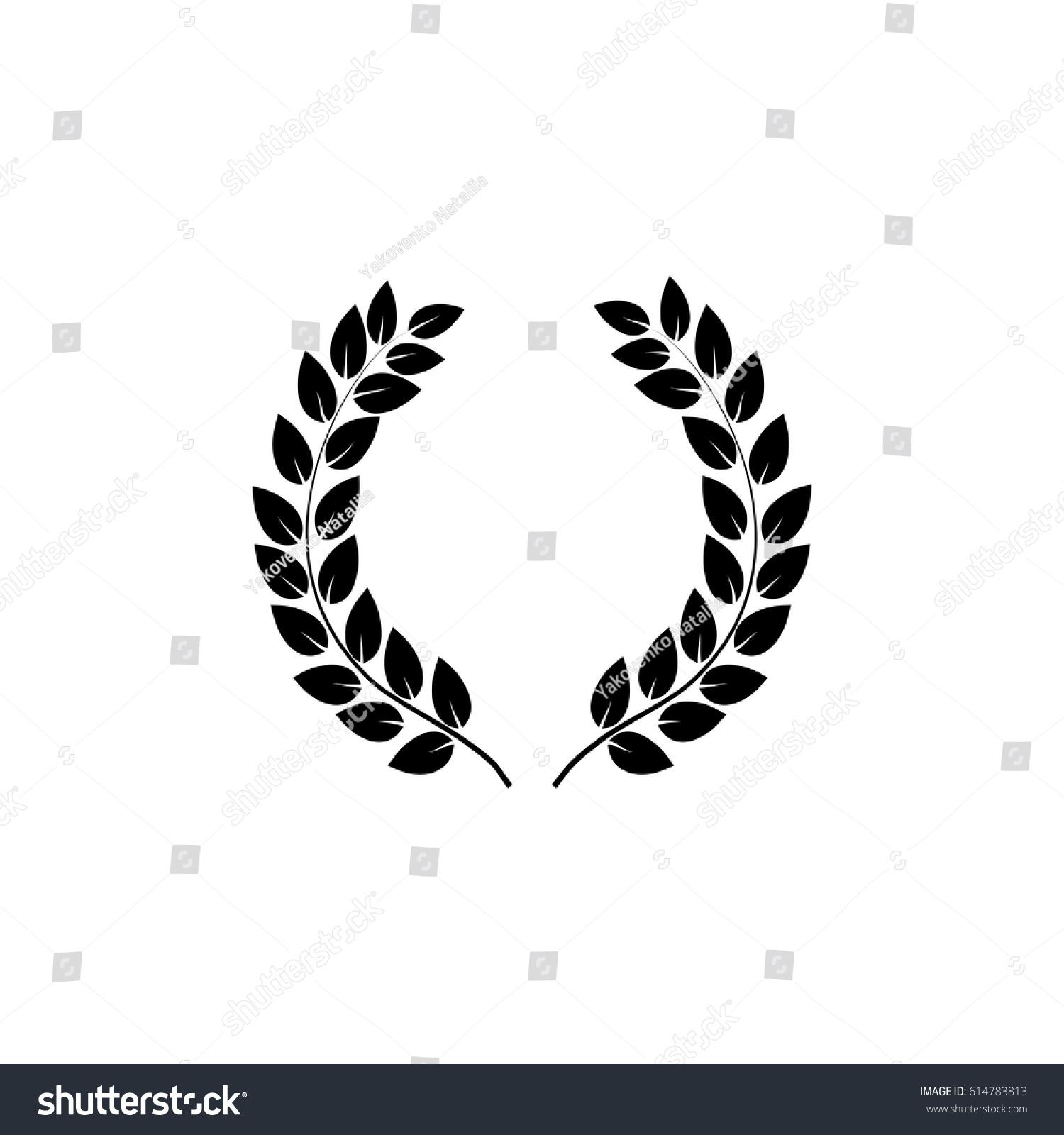 Laurel Wreath Reward Modern Symbol Victory Stock Vector Royalty